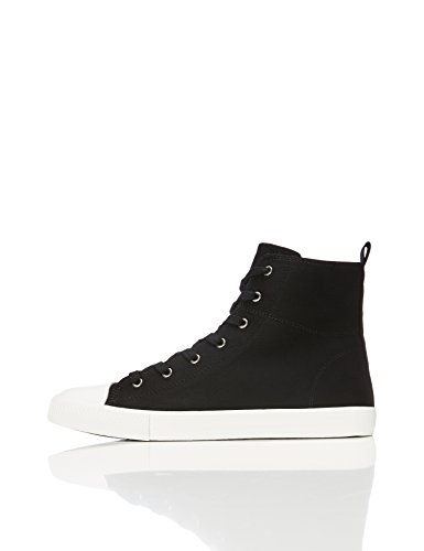 find. Lace Up Baseball Sneaker a collo alto Donna, Nero (Black), 38 EU