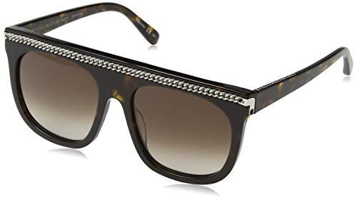 Stella mccartney sc0043s 002 occhiali da sole, marrone (002-avana/brown), 55 unisex-adulto