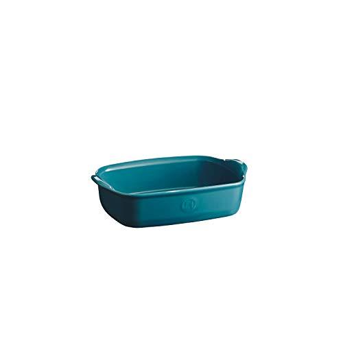 Emile Henry EH609649 Plat à Four Individuel, Céramique, Bleu Calanque, 22 x 14 cm