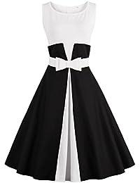 Robe de Soirée Cocktail Courte Rétro jointif Vintage 1950 Style Audrey Hepburn Rockabilly Swing Grande Taille par Babyonlinedress