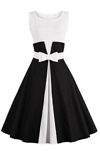 vestido-negro-y-blanco-de-fiesta-de-boda-vestido-a-los-anos-60-de-verano-para-mujer-talla-l-de-babyo