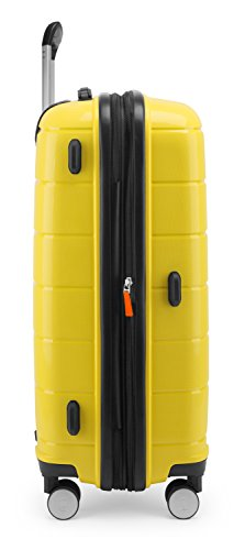HAUPTSTADTKOFFER - PRNZLBRG - Hartschalenkoffer Trolley Rollkoffer Reisekoffer, TSA, 66 cm, 77 Liter, Gelb - 4