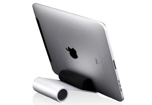 Galleria fotografica Just Mobile Slide Stand Supporto Portatile In Alluminio per Apple iPad 2/3/iPad Mini 2/3, Argento
