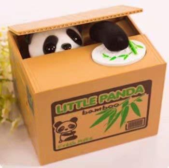 lmtech Panda Boîte d'économie d'argent Banque pour chat Kitty Tirelire Volant pièce de monnaie Tirelire Chat