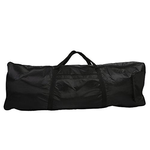 MagiDeal 61 Tasten Keyboardtasche schwarz, 103x52x2cm, Reiß- und Wasserfest, Rucksackgurte verstellbar