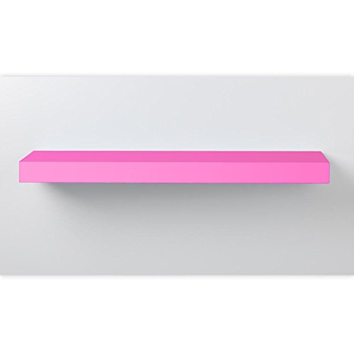 Wandboard, Wandregal, Steckboard, in verschiedenen Farben und Längen, Länge:60cm, Farbe:pink