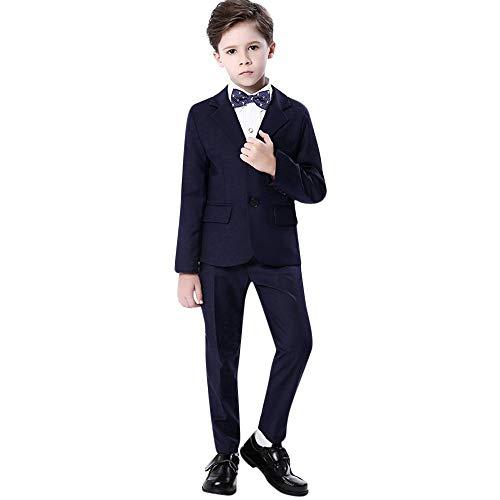 ALISIAM Winter Frühling Kind Junge Gentleman Mode Freizeit Gemütlich Hemd + Hosen + Fliege + Jacke Taufkleid Hochzeitskleid Party Kleid Gentleman-Anzug Kleid Zeigen Passen Kinderkleidung