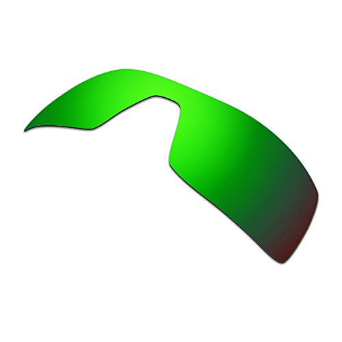 HKUCO Mens Replacement Lenses For Oakley Oil Rig Sunglasses Emerald Green Polarized