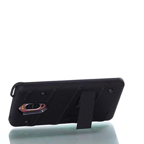 EKINHUI Case Cover Dual Layer Hybrid Armor Schutzhülle Shockproof Stoßfänger mit Kickstand für Huawei Mate 9 Pro ( Color : Red ) Black
