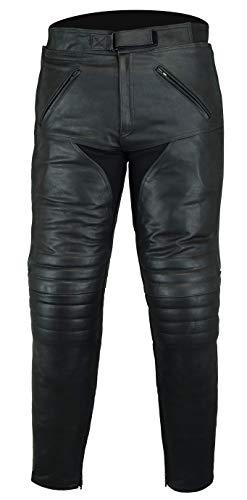 Bikers Gear Australia Herren weiche Premium-Motorradhose aus Leder,LT1004,Schwarz,EU(524XL),UK(42S)