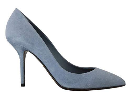 Dolce & Gabbana - Damen Schuhe - Pumps Blue Suede Leather Pumps Heels- EU 39 Dolce & Gabbana Print-heels