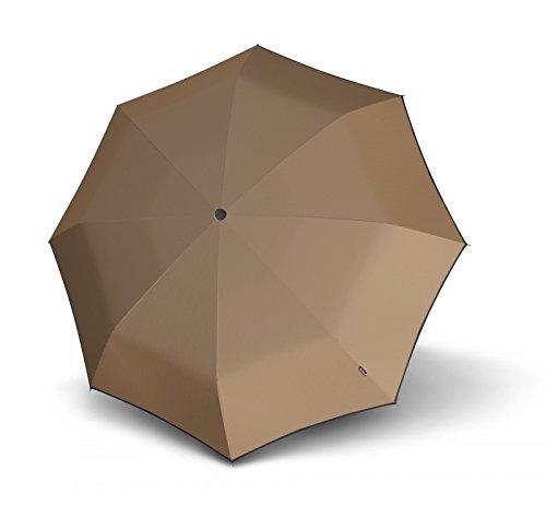 Knirps T.100 Small Duomatic Regenschirm, 23 cm, Desert (Braun), Länge ca. 18 cm, Durchmesser ca. 5 cm