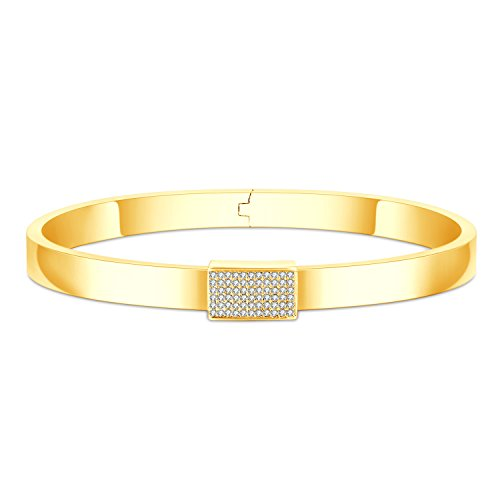 Fancilla Damen Armband Gold/Silber/Rosegold Verfügbar Vergoldet Schmuck Armreif mit Zirkonia Geschenke für Frauen