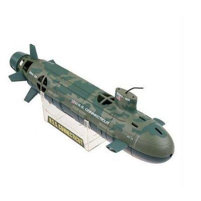 Nachttauchen moglich in die dreidimensionale Steuerung mit Beleuchtung installiert COM * MI-SSN-21-grune Tarnung beliebten Rohstoffwiederbelebung U-Boot U-Boot Seawolf 6CH RC ausgestattet -