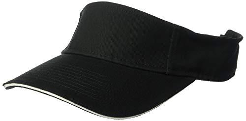 Clementine Herren ULTC-8113-Classic Cut Brushed Cotton Twill Sandwich Visor Kappe, schwarz/weiß, Einheitsgröße Brushed Cotton Twill Cap