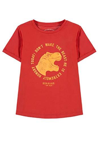 en Placed Print T-Shirt, Rot (Poppy Red 2103), 128 (Herstellergröße: 128/134) ()
