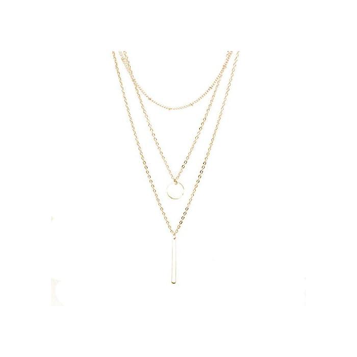 Zodiaca Halskette Damen Modeschmuck, Halskette Choker Mehrreihig Kette mit Anhänger, Geburtstag Geschenk für Frauen…