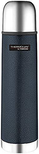 Thermos ThermoCafé Stainless Steel Flask, Hammertone Blue, 500 ml