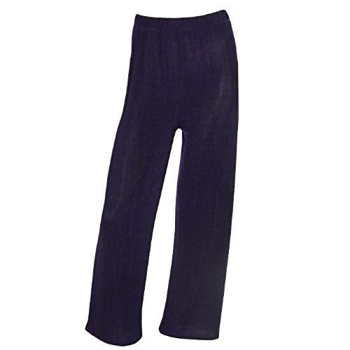 Magna - Basic Edle Damen Slinky Stretch Hose Perfekt Zum Kombinieren Farbe violett, Größe 48/50 - Slinky Stretch