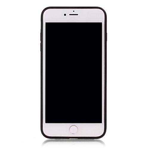 Ukayfe 360 Grad PC 2 in 1 Custodia per iPhone 7/8 plus,UltraSlim Policarbonato Copertura Cover Case Protettiva Morbida Soft TPU Silicone Gomma Gel Glitter Brillantini Bling,Moda Serie Completa Screen- Nero 4#