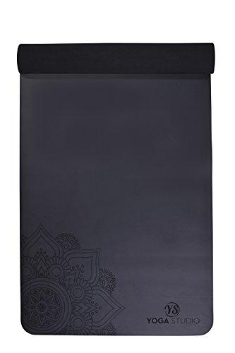 Estudio de Yoga sintética Mandala Yoga Mat, Negro