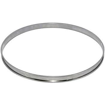 De Buyer 3091.22N Cercle à Tarte Bord Roulé INOX Hauteur 2 cm Diamètre 22 cm