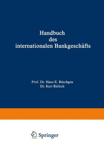 Handbuch des internationalen Bankgeschäfts