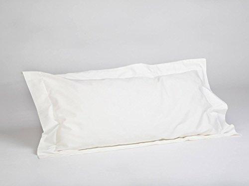 Yumeko Bettwäsche - Kissenbezug - Baumwollsatin - 40x80 cm - Warm White - Weiß - mit Saum - 100% biologische Baumwolle - ökologisch - weich & geschmeidig - Fair Trade -