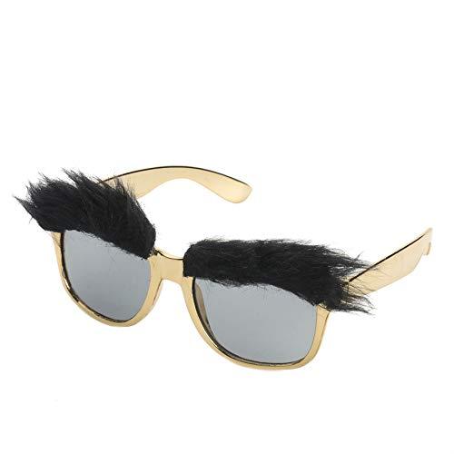Lustige Buschige Augenbrauen Kostüm Brille Photo Booth Requisiten Party Cosplay Maske Gefälligkeiten Zubehör Festival Party Supplies Dekoration, Gold ()