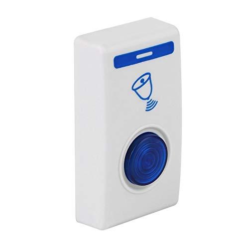 IanqAzwibvd-UK LED Funkgong Türklingel Türklingel & Funkfernbedienung 32 Tune Songs Weiß & Blau (Low-voltage-verkabelung)