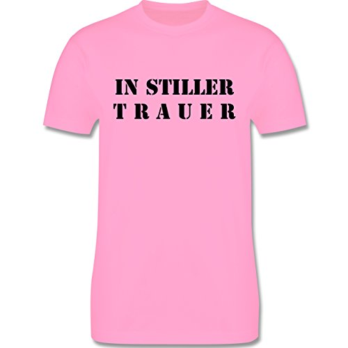 JGA Junggesellenabschied - In stiller Trauer - Herren Premium T-Shirt Rosa