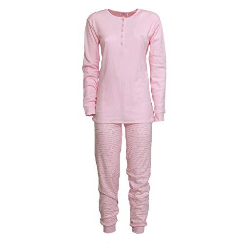 Laura biagiotti pigiama donna caldo cotone invernale bpj96194s t019 l rosa
