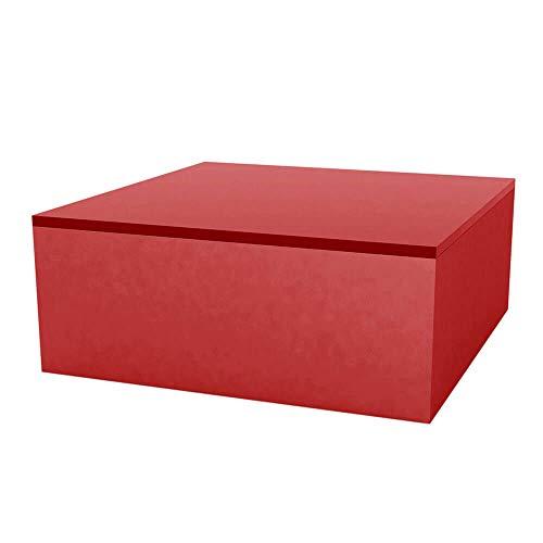 Vondom Quadrat Table Basse pour l'extérieur 80x80 h.32 cm cm Rouge