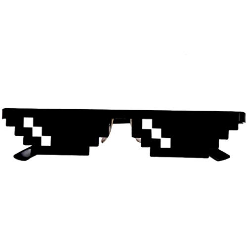 BBsmile Thug Life Glasses 8 bit Pixel Deal con gafas de sol TI gafas de sol unisex de juguete (A)