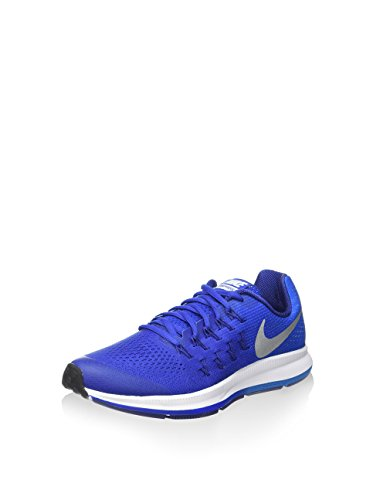 Nike Zoom Pegasus 33 (Gs), Chaussures de Running Entrainement Homme Azul (Azul (game royal/metallic silver-photo blue))