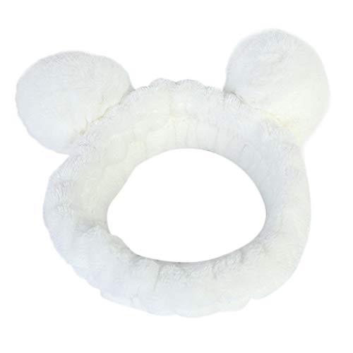 Panda Ohr Make Up Stirnband Damen Gesicht Waschen Spa Dusche Maske Haarband Bandana Für Frauen Make-Up Kosmetisches Turban Haar Tragen Gesicht Waschen Haarband Stirnbänder -