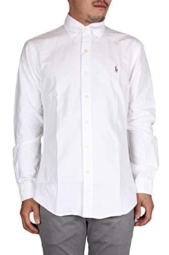 Polo Ralph Lauren Herren Slim FT BD PPC White Freizeithemd, Weiß A1000, Medium