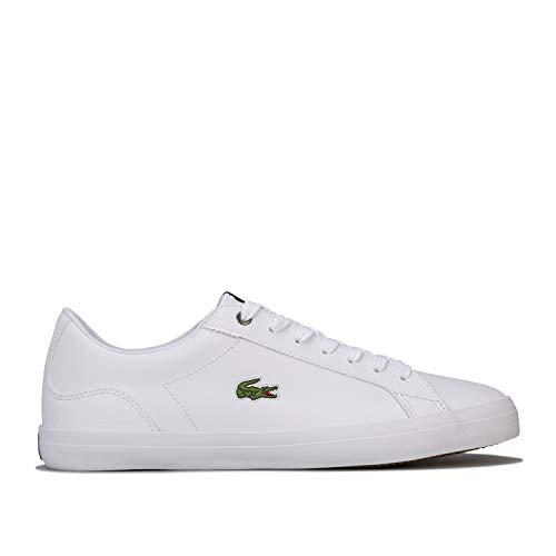 Lacoste de los Hombres Zapatillas de Cuero Lerond 418 3 CMA, Blanco, 44.5 EU