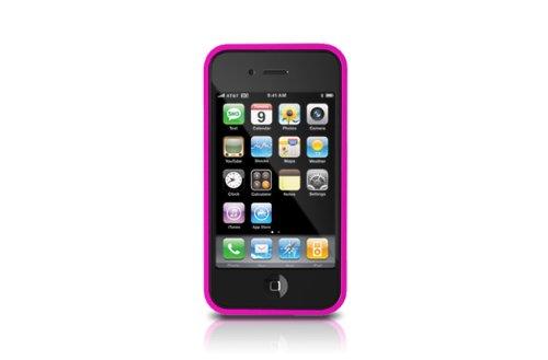 iLuv iCC700 Gamme Edge Housse en silicone avec 2 films de protection pour iPhone 4 Rose Rose