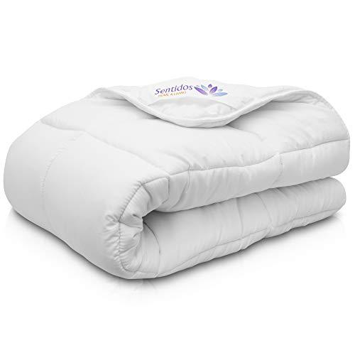 Sentidos Kinder Bettdecke 4 Jahreszeiten 100 x 135 cm - Kindersteppdecke für den Winter - Decke für Allergiker - Bettzeug - Sommerdecke