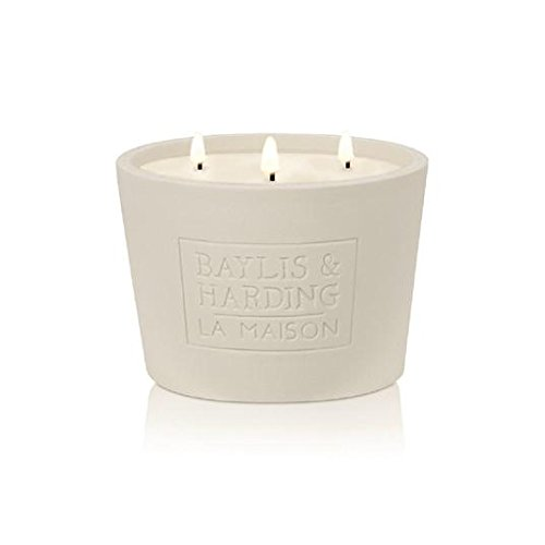 baylis-harding-la-maison-triple-wick-white-linen-cassis-ceramic-candle