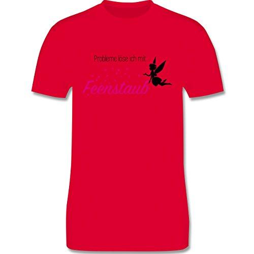 Statement Shirts - Probleme löse ich mit Feenstaub - Herren Premium T-Shirt Rot