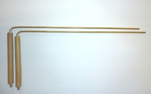 Bronze Wünschelruten mit der Wärme und Komfort von Bambus Griffe