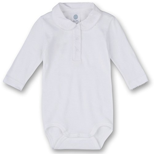 Sanetta Baby-Body mit Kragen 322103, white, 86 (Slip-kragen)