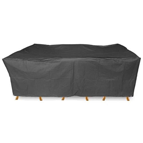 Preisvergleich Produktbild QAZWSX Gartenmöbel-Sets,  Strapazierfähiges UV 210D Oxford Tuch Abdecken Würfel Rattan Möbel-Set,  Terrasse,  Außenstaubschutz - Schwarz Möbelstaubschutz (Color : Black,  Size : 200x160x70cm)