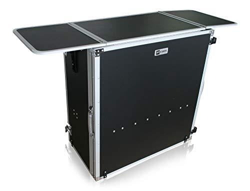 Tavolo pieghevole multifunzione utilizzabile come consolle per DJ flightcase o supporto per materiale pubblicitario
