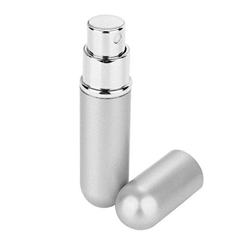 Rameng 6ml Mini Flacon Pompe de Parfum Bouteilles Atomiseur Portable Parfum Vaporisateur pour Voyage Fête Maquillage Outil (Argent)