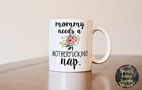Gift For Mom, Mommy Needs A Nap, Birthday Gift, Christmas Gift For Mom, New Mom Gift, Gift For Wife, Mom Mug, New Mom Mug, Gifts For Mom White-footed Mug