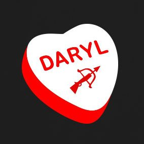 Love Daryl - Stofftasche / Beutel Weiß