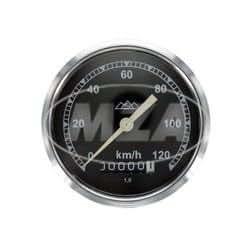 425S Tachometer pass /Ã/˜80mm f/Ã/¼r AWO 425T 120km//h-Version schwarz mit Drei-Berge-Logo Tachoglas gew/Ã/¶lbt